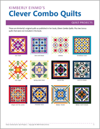 Clever Combo Quilts | Products | The Electric Quilt Company ... : the electric quilt company - Adamdwight.com