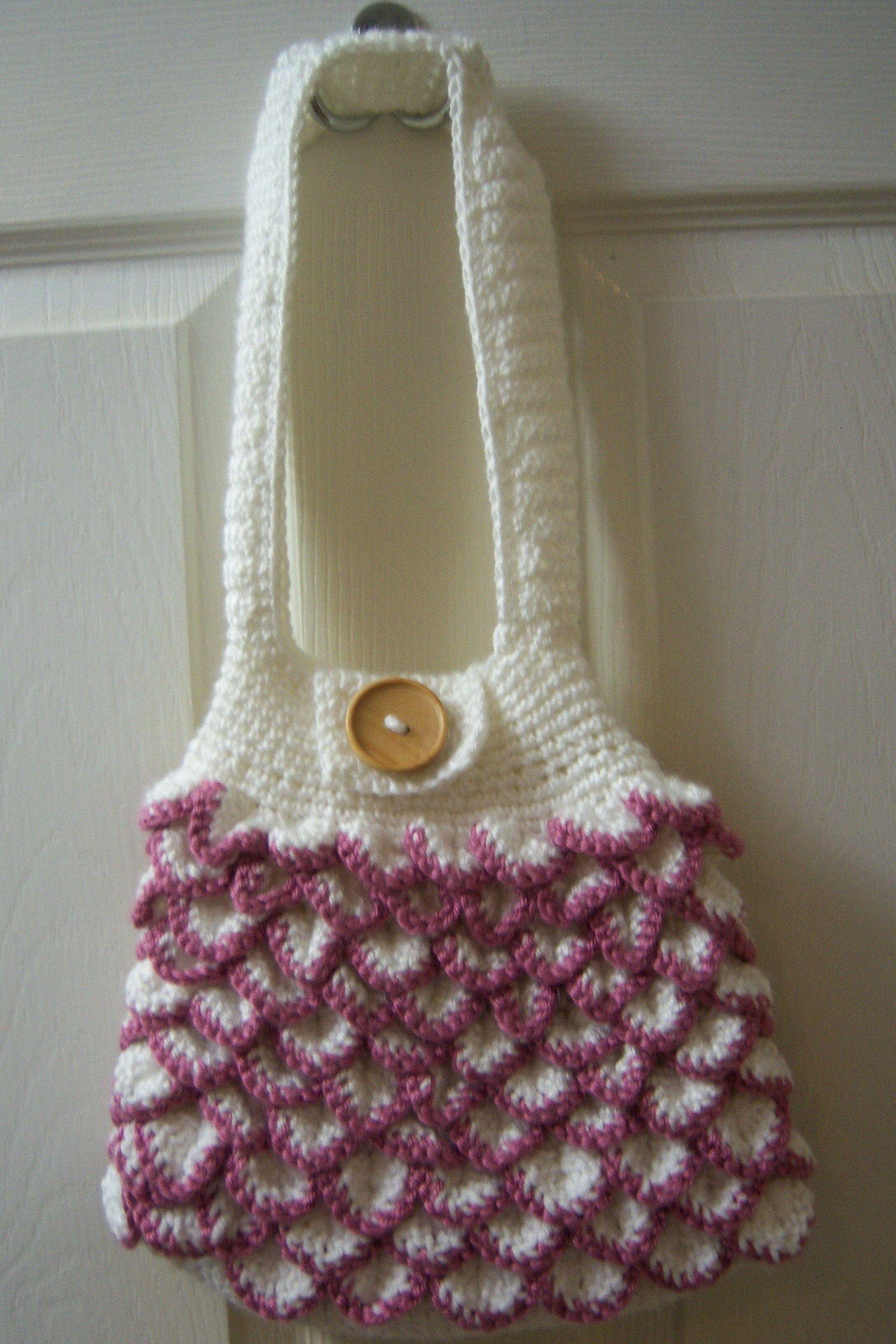 Crocodile crochet purse- I m not much for the crocodile stitch 855f697a5c20a