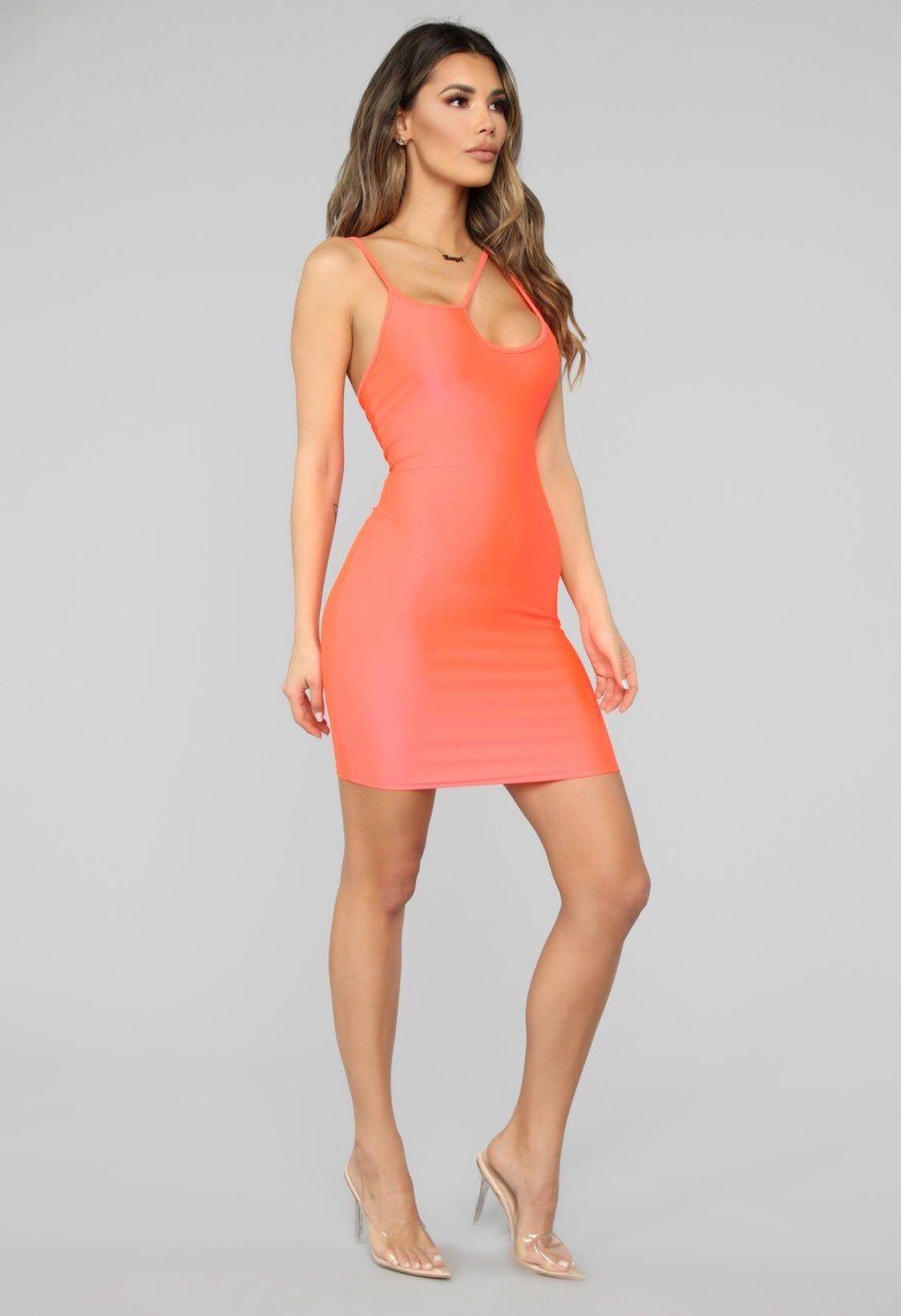 Neon orange dress. Never worn. XS (With images) Mini