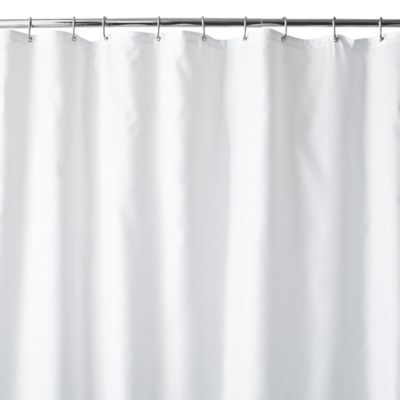 Hotel Fabric 70 X 84 Long Shower Curtain Liner In White Fabric