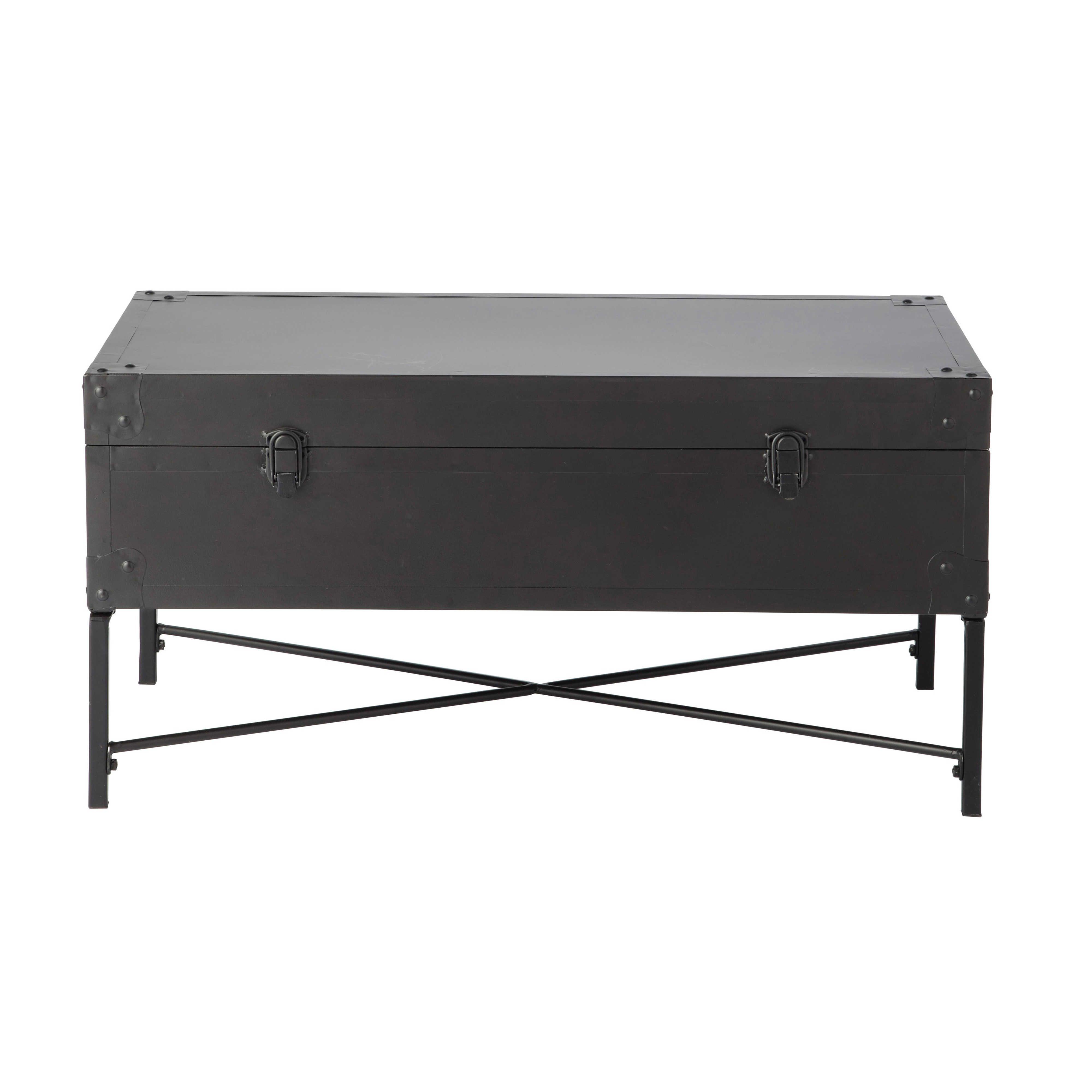Metalltruhe EUGENE, B 72 cm, schwarz | Hallway furniture | Pinterest