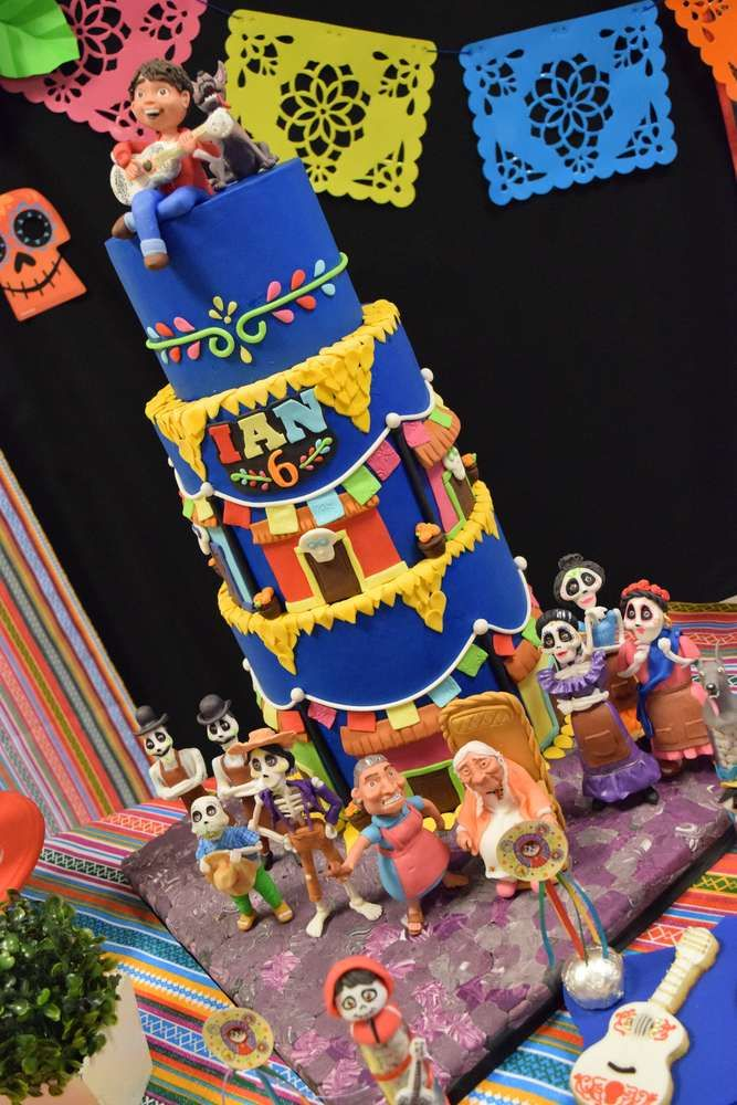 Check out the awesome cake at this Coco Birthday Party! See more party ideas and share yours at