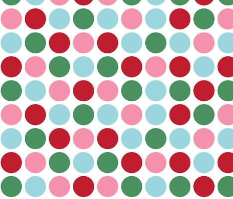christmas polka dots lg fabric by misstiina on Spoonflower - custom fabric