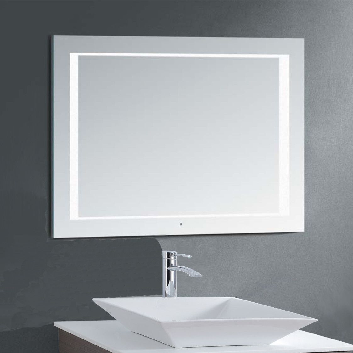 led anti-fog bathroom mirror No more foggy mirrors! | Mi||ion $ hou ...