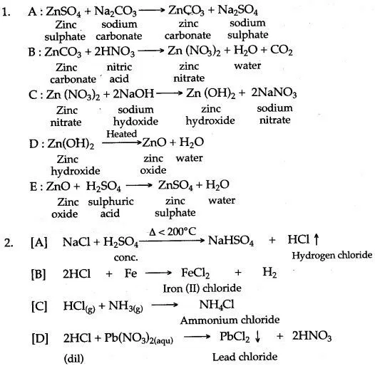 Icse Solutions For Class 10 Chemistry Chapter 3 Acids Bases And Salts Chemistry Basics Chemistry Chemistry Lessons