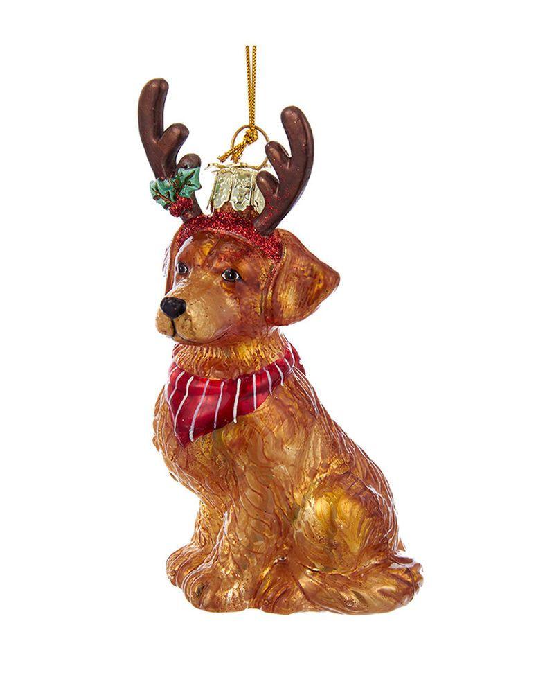 Kurt Adler Noble Gems Golden Retriever Ornament Ornament