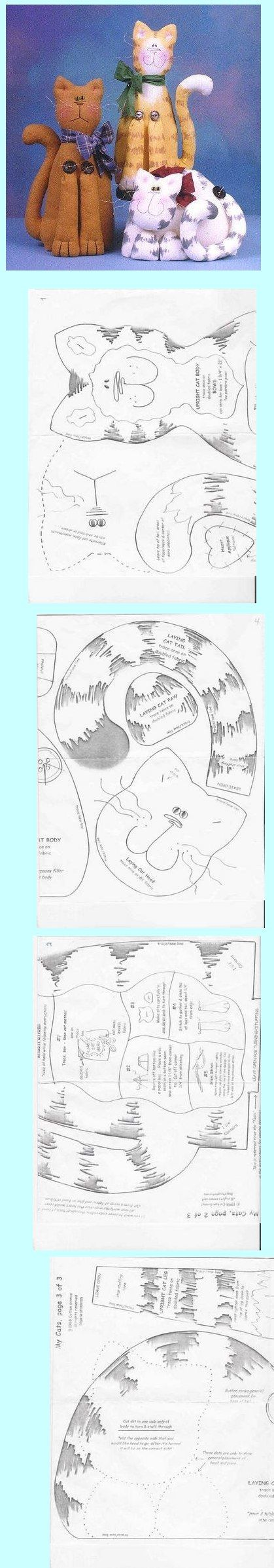 Pin de Kelly Zago en ideias em feltro   Pinterest   Gato, Molde y ...
