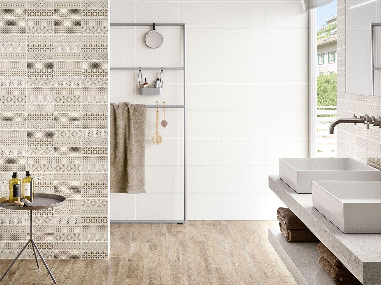 Bagno Colori Neutri : Rivestimento bagno in bicottura serie pattern bianco dimensioni