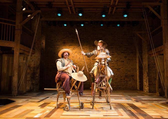 Rufus Hound as Sancho Panza and David Threlfall as Don Quixote in Don Quixote. Photo by Helen Maybanks.