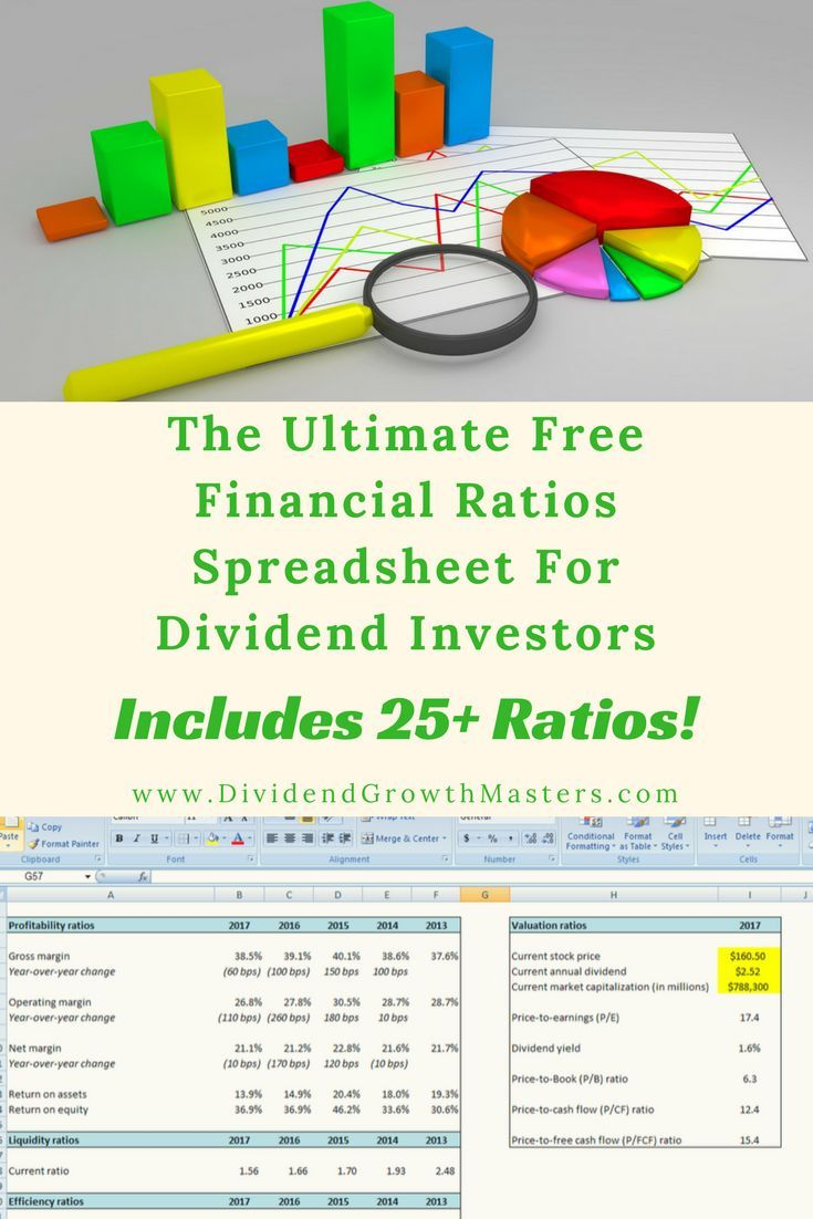 Free ultimate financial ratios spreadsheet for dividend