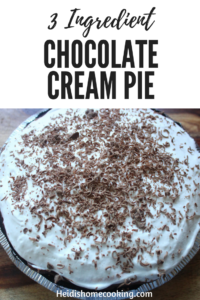 3 Ingredient Chocolate Cream Pie