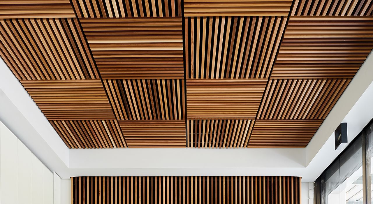 Ecoustic Timber Ceiling Blade Timber Ceiling Ceiling Design Living Room Ceiling Design Bedroom