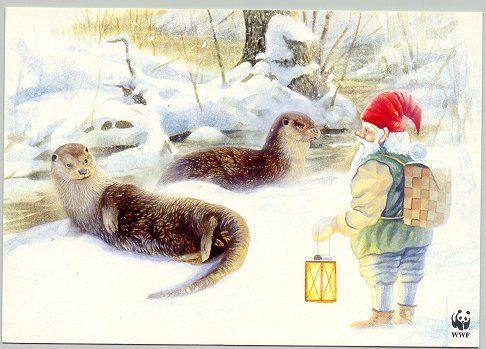 Wwf Weihnachtskarten.Vänermedia Wwf By Stefan Hansson The Gnomes Know Christmas