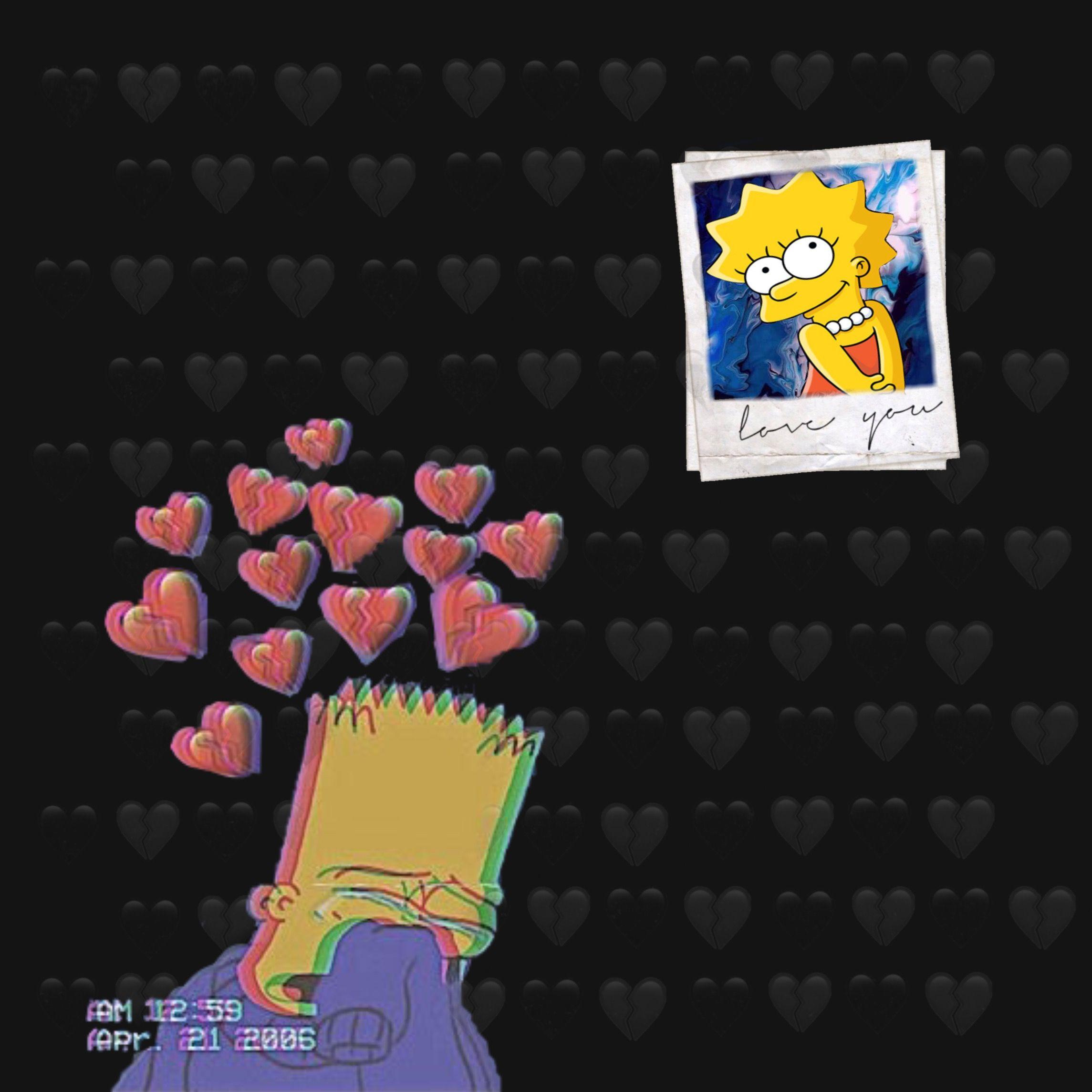 Pin On Simpson Broken heart bart simpson sad wallpaper