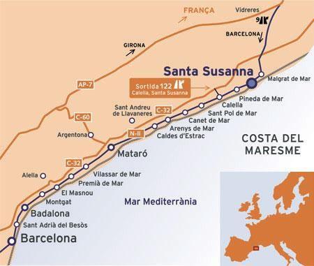 Costa De Barcelona Mapa.Mapa De La Costa De El Maresme En 2019 Costa Sant Reu De