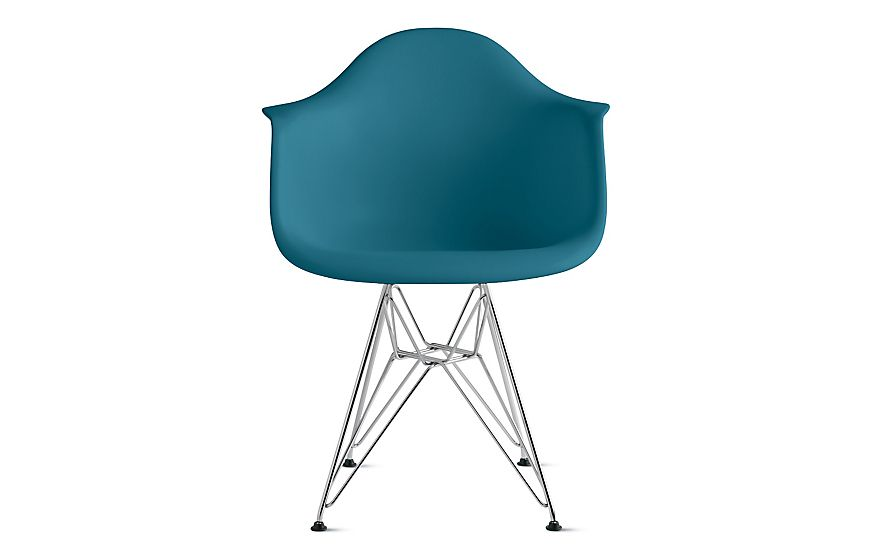 Eames® Molded Plastic Wire-Base Armchair (DAR) | Armchairs, Dining ...