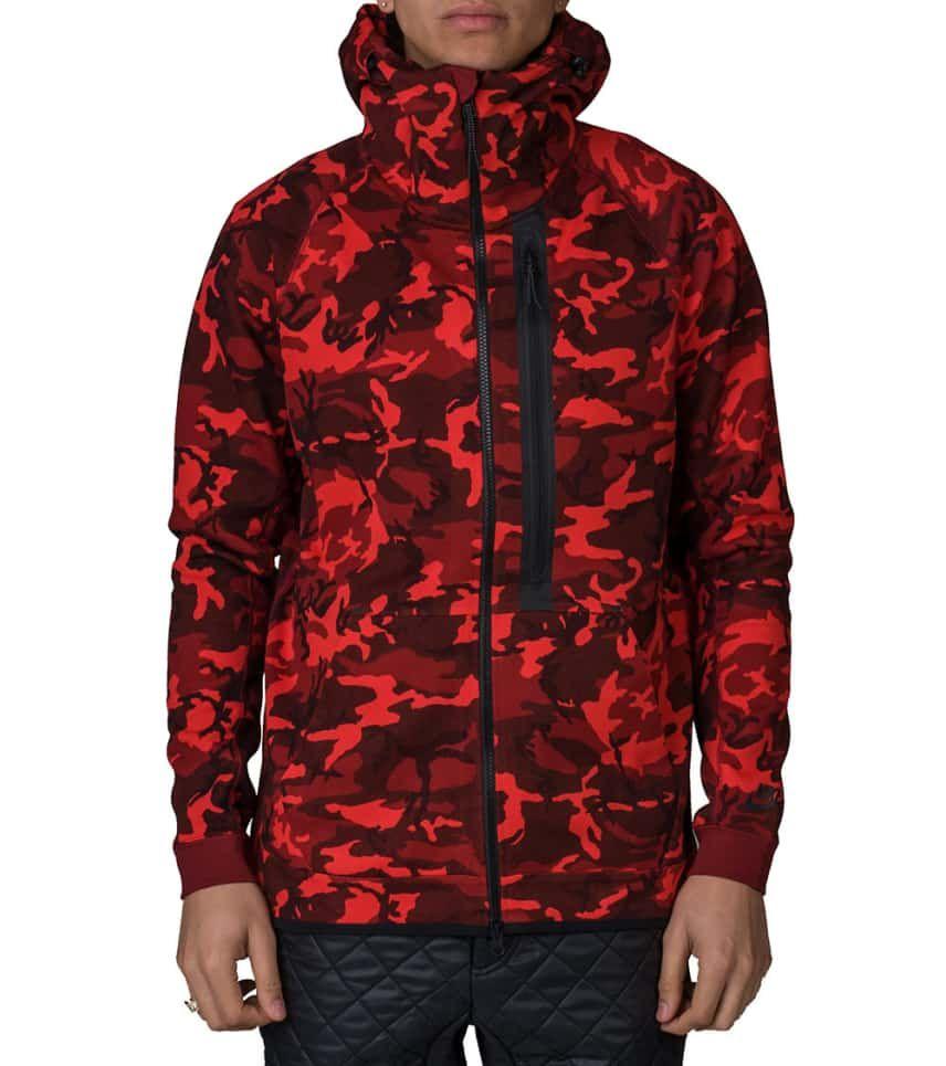 Articulación Dardos Especificado  NIKE SPORTSWEAR Tech Fleece Full Zip Camo Hoodie (Red) - 678950-677 | Jimmy  Jazz | Nike tech fleece, Camo hoodie, Tech fleece