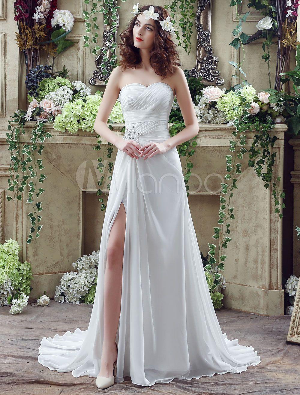 Hoher Split schulterfreies Sweetheart Prom Kleid mit Korsett zurück ...