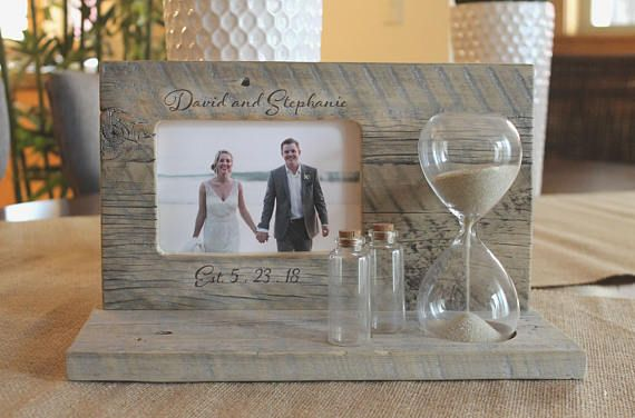 Sand Ceremony Set With Custom Engraving And Hourglass Wedding