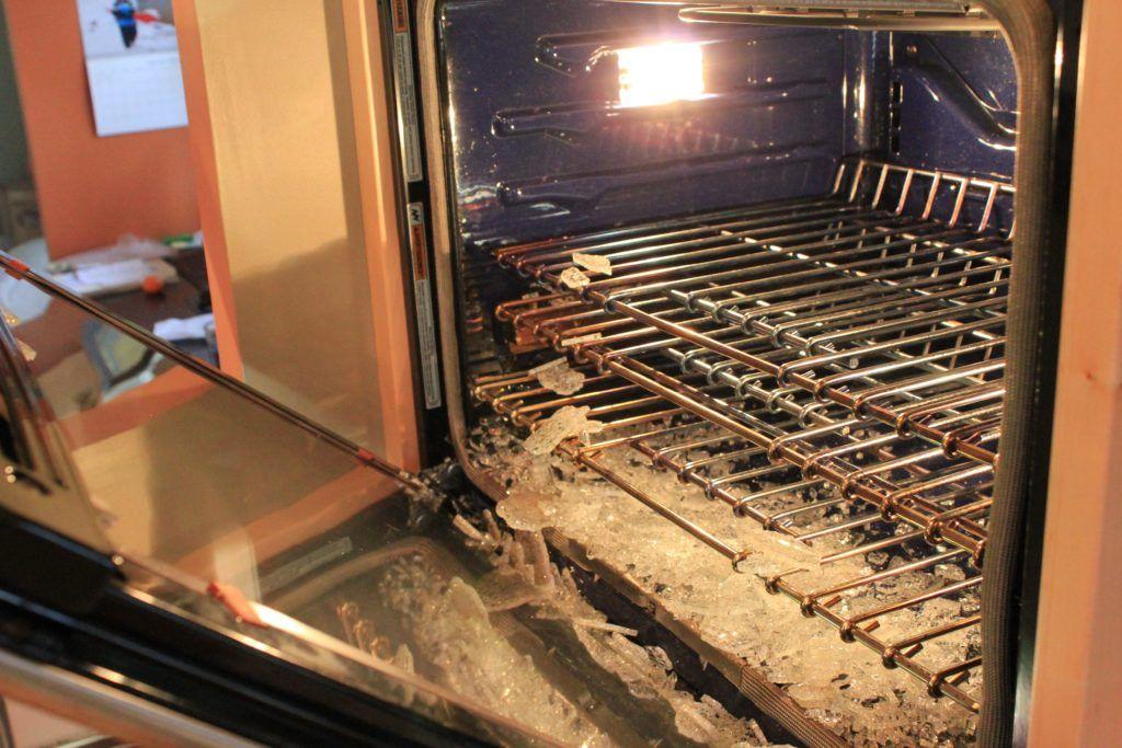 Kitchenaid Oven Door Glass Cracked Glass Doors Pinterest