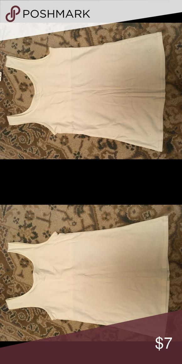 Justice cream bra in tank top Justice wide straps cream knit bra in tank top Justice Shirts & Tops Tank Tops