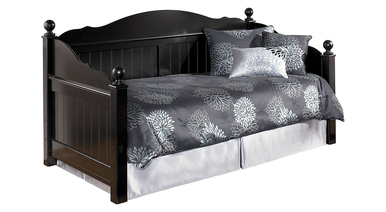 Black daybed without trundle bed Daybed with storage