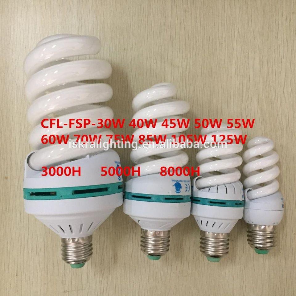 T4 Full Spiral Energy Saving Lamp Cfl E27 B22 110 130v 220 240v 15w 18w 20w 23w 26w 30w 32w 40w Factory Price