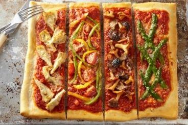 Pizza quatre saisons, les recettes de nos chefs
