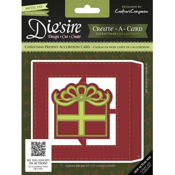 Die sire Create a Card Christmas Present Accordion Die If you love making cards that could become more like keepsakes then the fabulous accordion