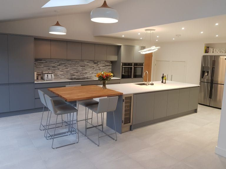 supermatt dust grey j profile queens park hallmark kitchen designs in 2020 kitchen design on j kitchen id=12118