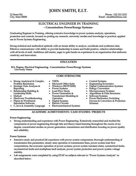 Electrical Engineer Resume Template Premium Resume Samples