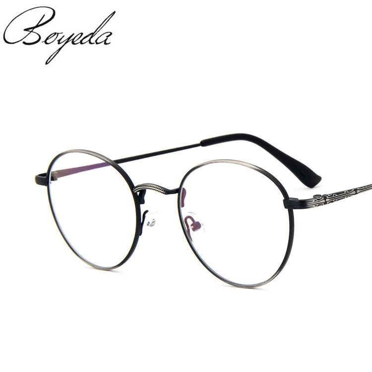 a9d71398e27 2017 High Quality Men Women Retro Round Metal Eyeglasses Frames Korean Myopia  Glasses Frame Harry Potter Optical Eyewear Like if you are Excited!