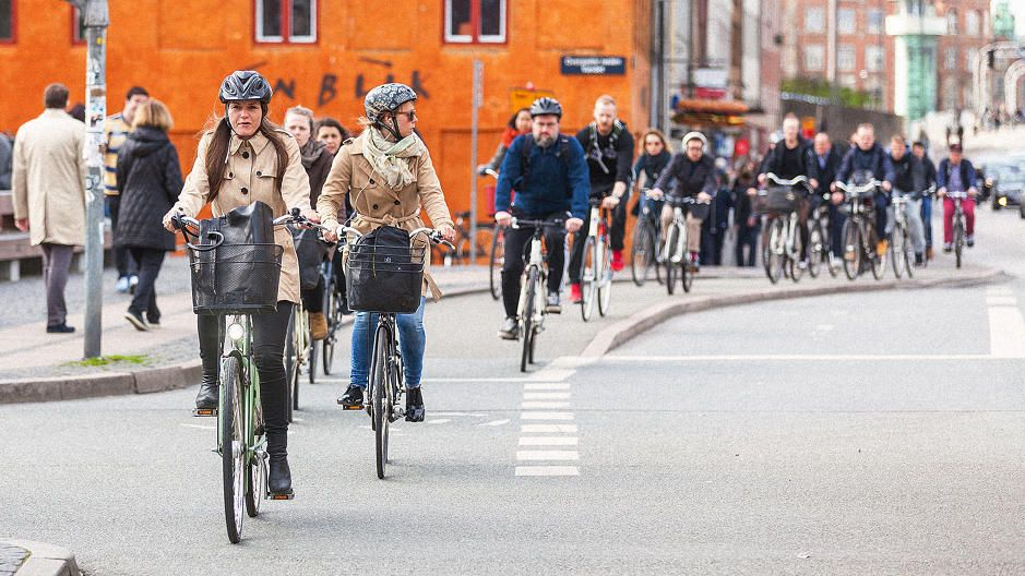 Copenhagen now has more bike use than car use the bike