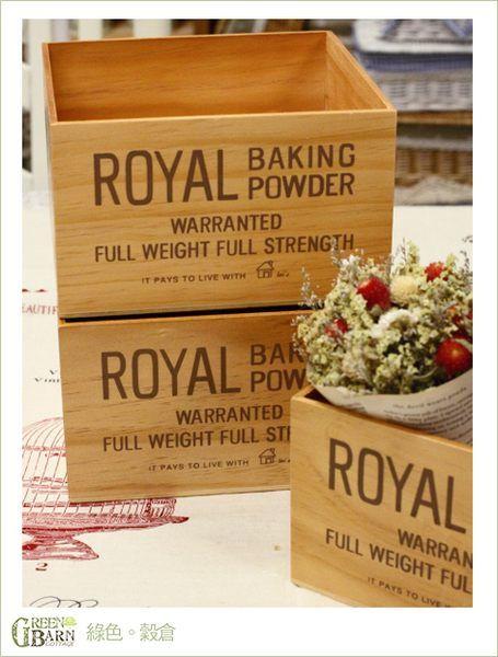 {綠色穀倉}ZAKKA鄉村雜貨。ROYAL方形木箱。收納箱。居家佈置 | GreenBarn Cottage。綠色穀倉 - Yahoo! 奇摩拍賣