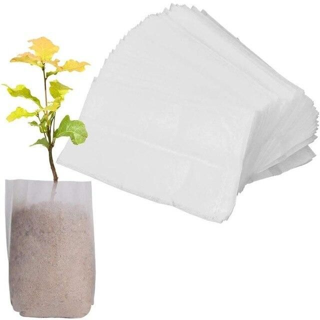 Photo of 600PCS Seedling Plants Nursery Bags Organic Biodegradable Grow Bags Fabric Eco-friendly Ventilate Growing Planting Bags 3 – China / 600pc