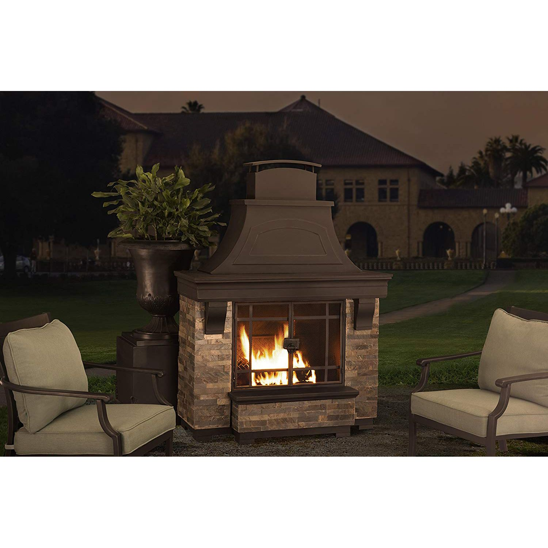 Sunjoy Jasper Wood Burning Fireplace Diy Outdoor Fireplace Outdoor Wood Burning Fireplace Outdoor Fireplace Kits
