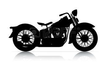 Classic Motorcycle Silhouette Of Classic Motorcycle Onwhite Back Ground Stock Photo Classic Motorcycles Motorcycle Silhouette