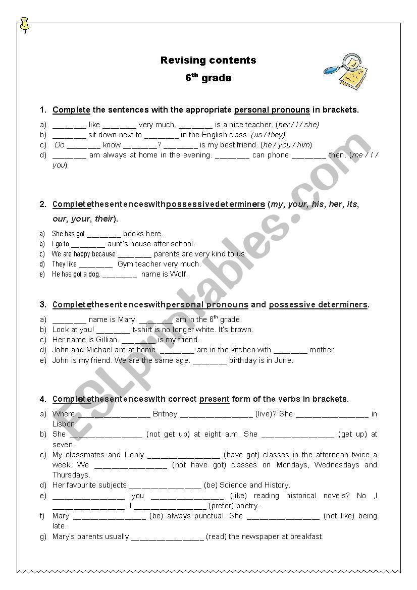 Grammar Worksheet 6th Grade Grammar Worksheets 6th Grade Worksheets Word Problem Worksheets