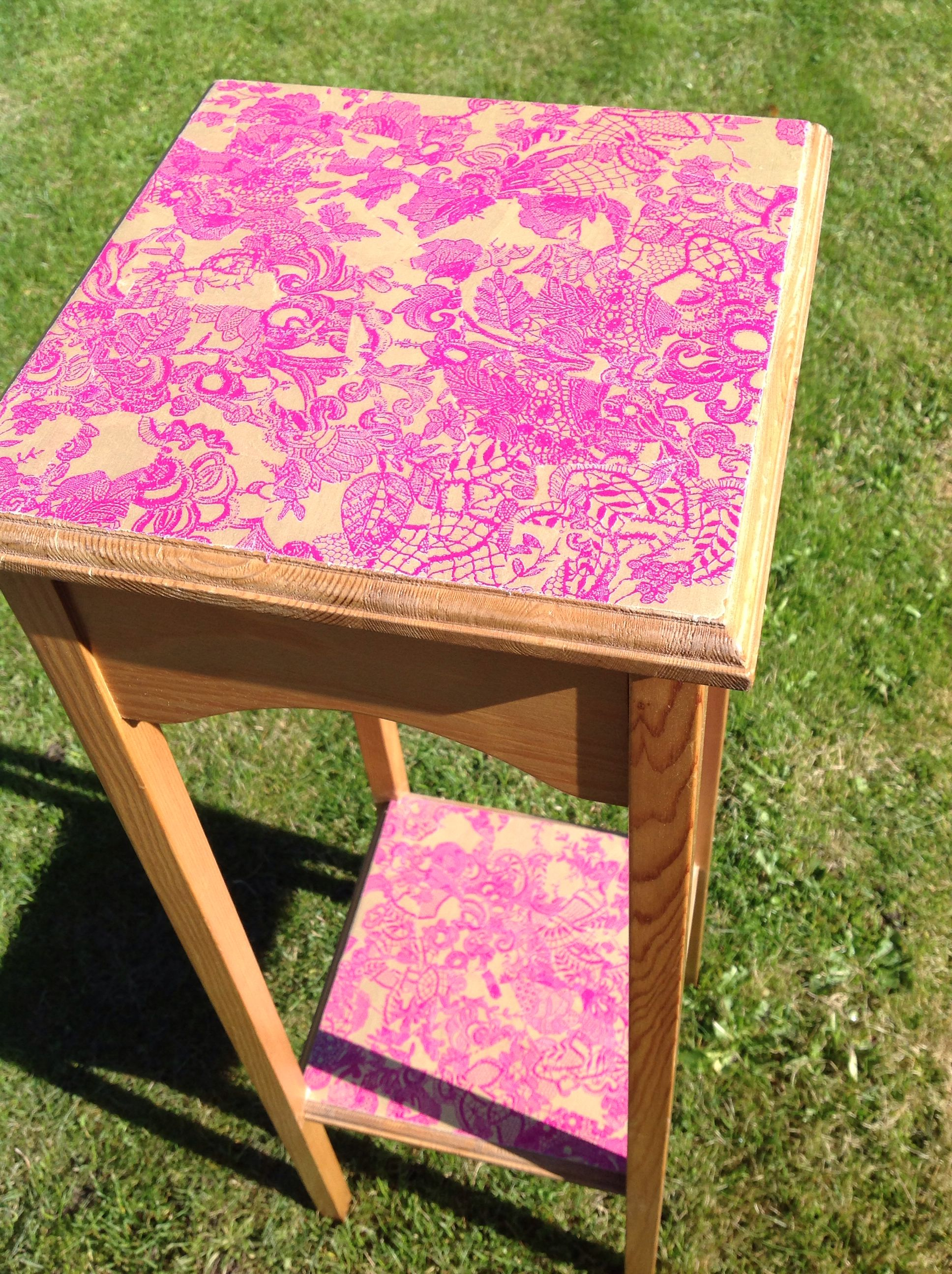Upcycled furniture decopatch spullies handmade by me pinterest upcycled furniture - Upcycling ideas for furniture ...