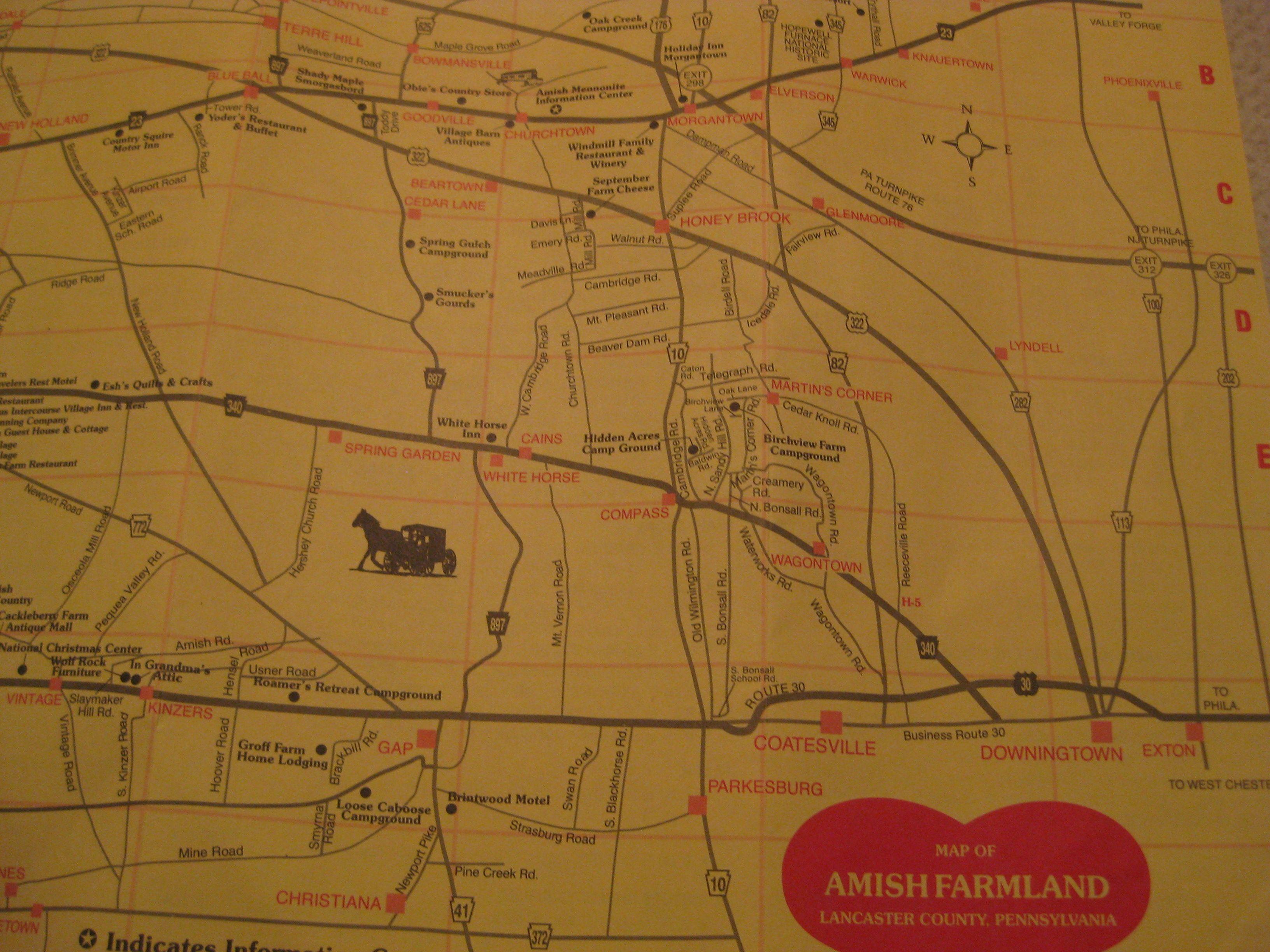 Farmlands map of Lancaster county PA Farmlands