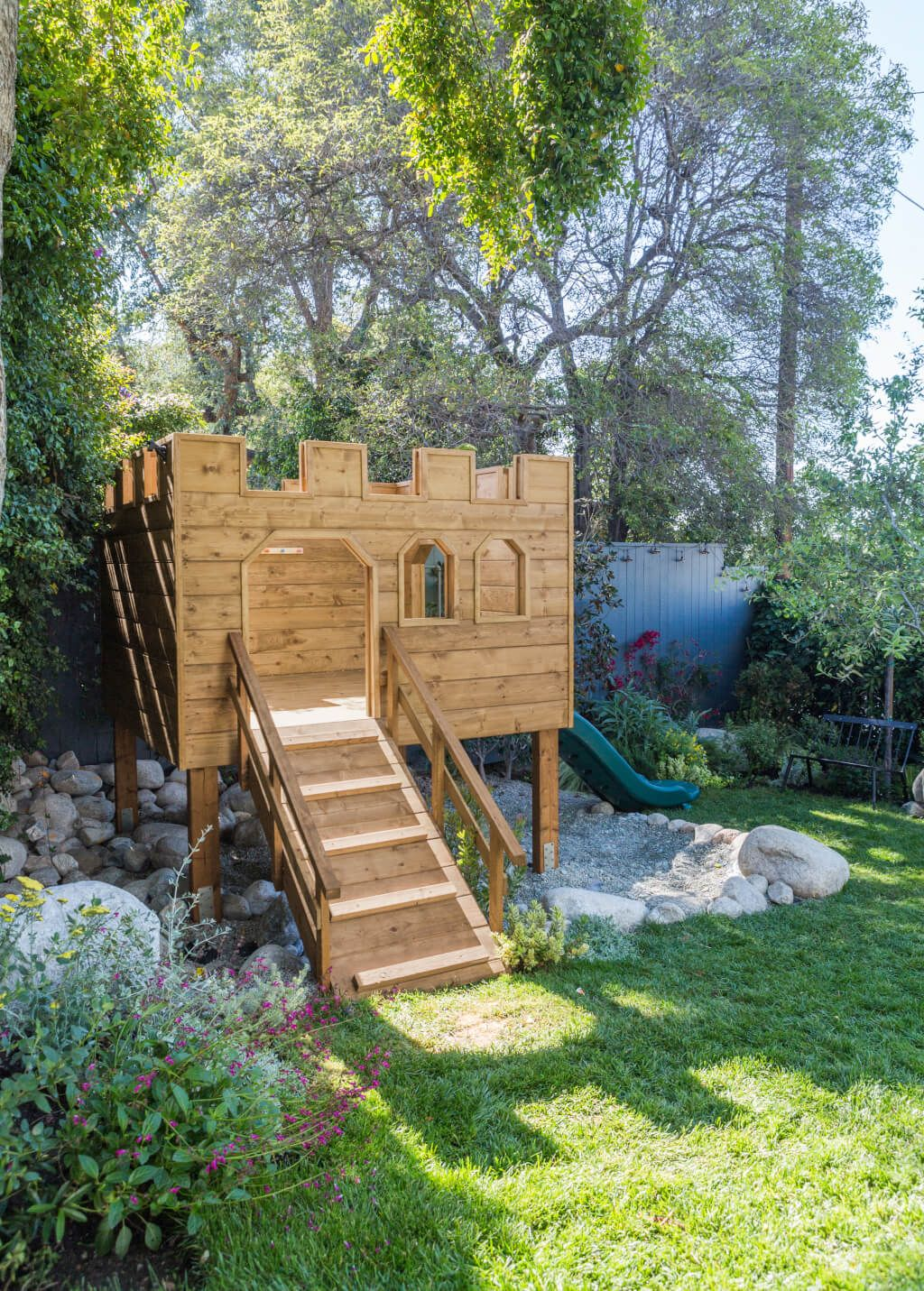 Building Our Backyard Castle with Wood Naturally + Fort ... on back yard railroad engines, back yard clubhouse blueprints, back yard playgrounds toy, back yard rubber mulch, back yard castles for boys, back yard gym plans,