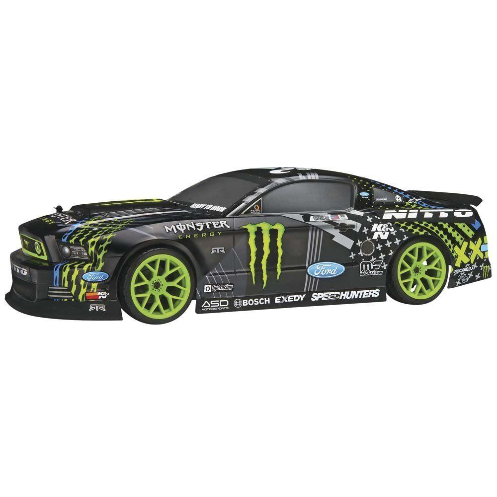 Amazon Com Hpi Racing 111664 E10 2013 Mustang Drift Monster Energy Rc Car Toys Games [ 1000 x 1000 Pixel ]