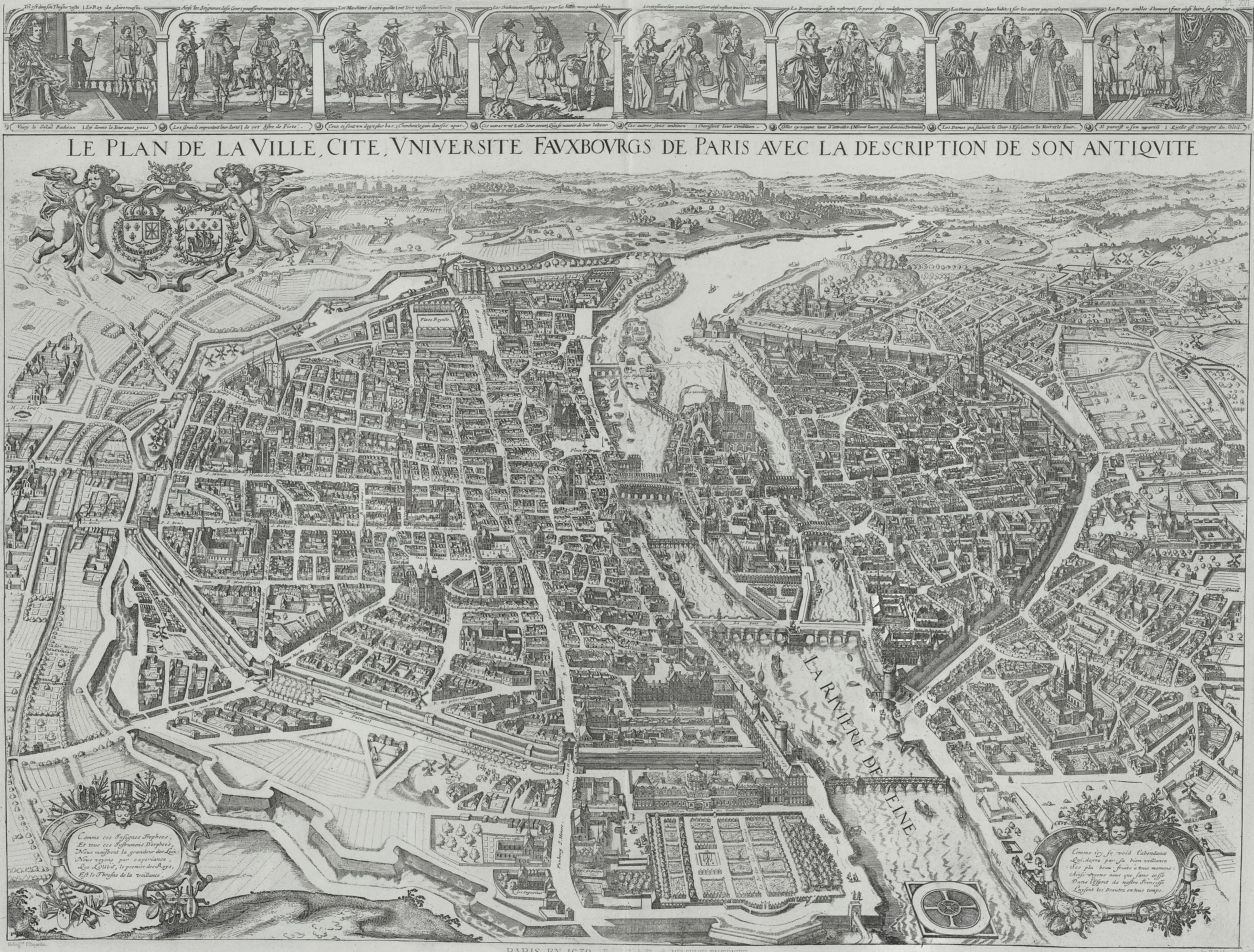 Lhistoire de Paris par ses plans – Plan De Paris Map