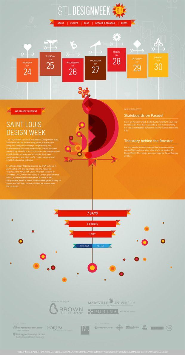 Event Calendar Design Inspiration : St louis design week website web development our work