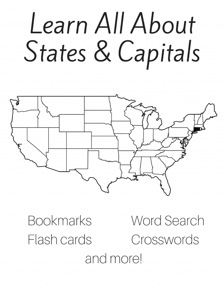 Free 50 States and Capitals Printable Workbook States