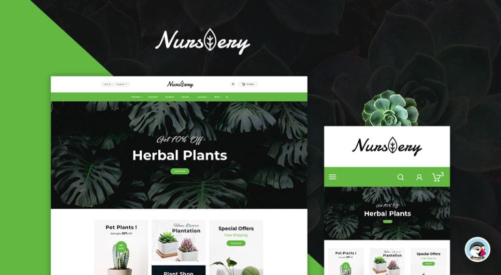 Nursery Plant Garden Tools Prestashop Responsive Theme Plant