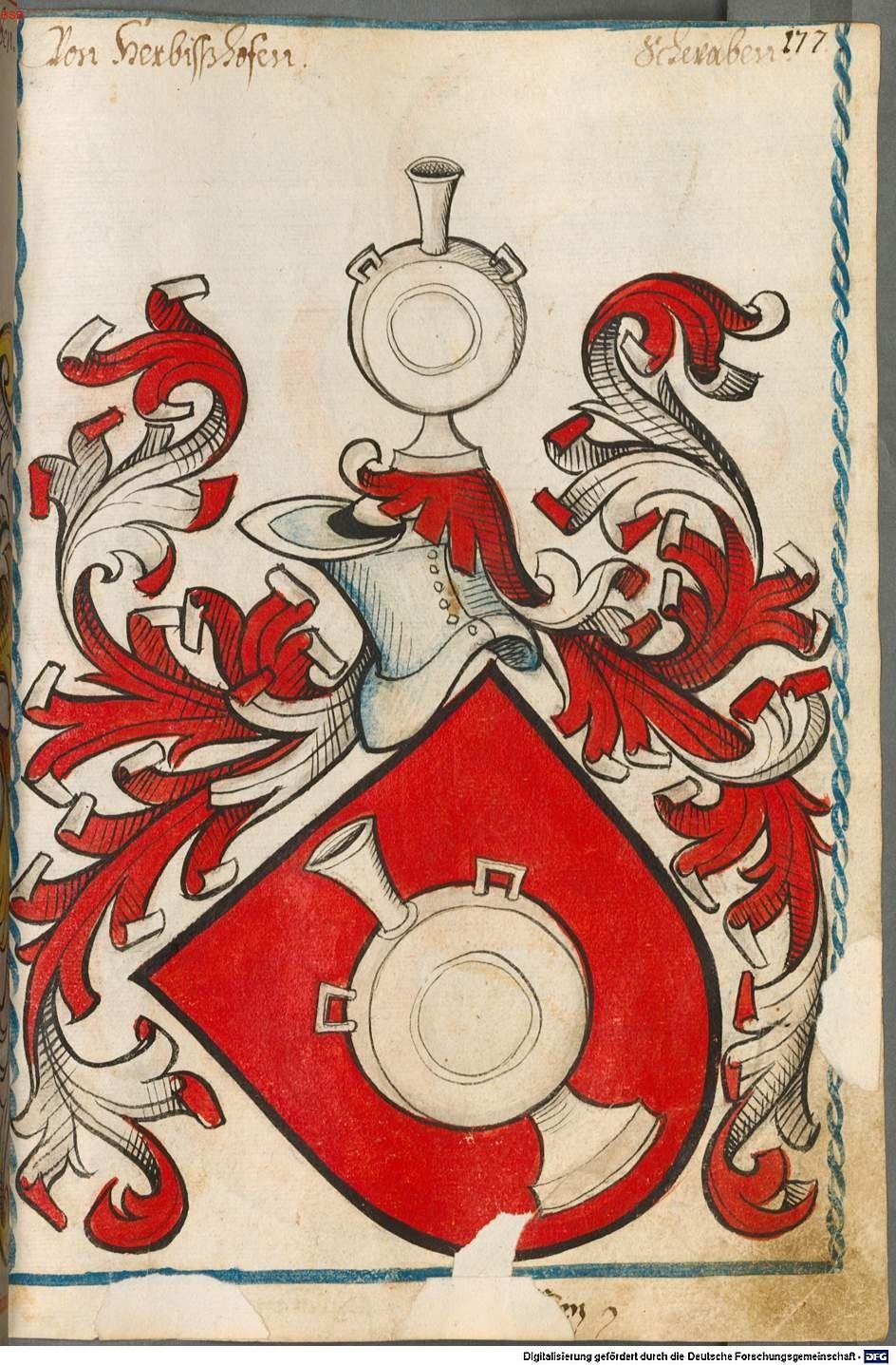 Scheibler'sches Wappenbuch Süddeutschland, um 1450 - 17. Jh. Cod.icon. 312 c  Folio 177