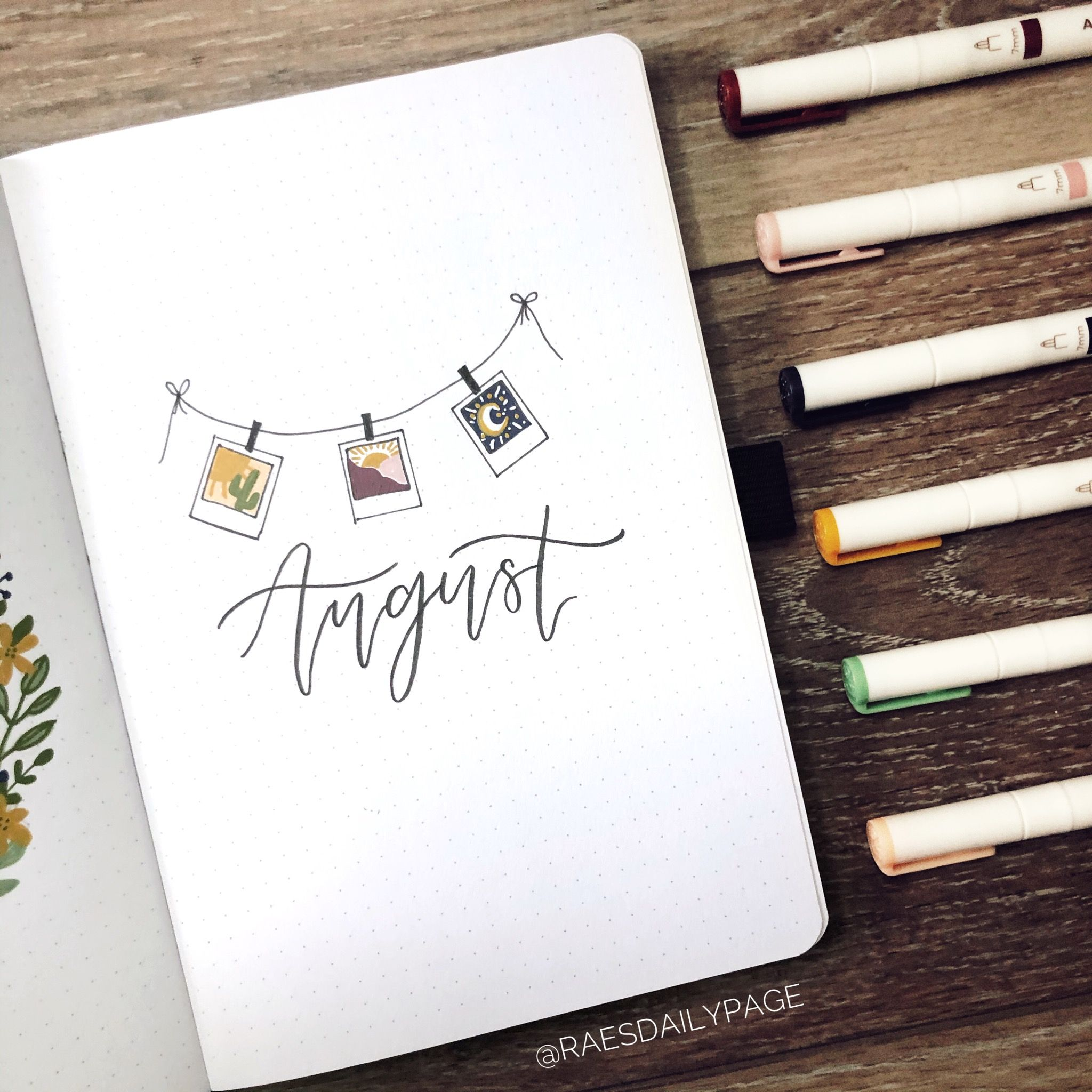 Photo of August Bullet Journal | Polaroids Theme – Rae's Daily Page
