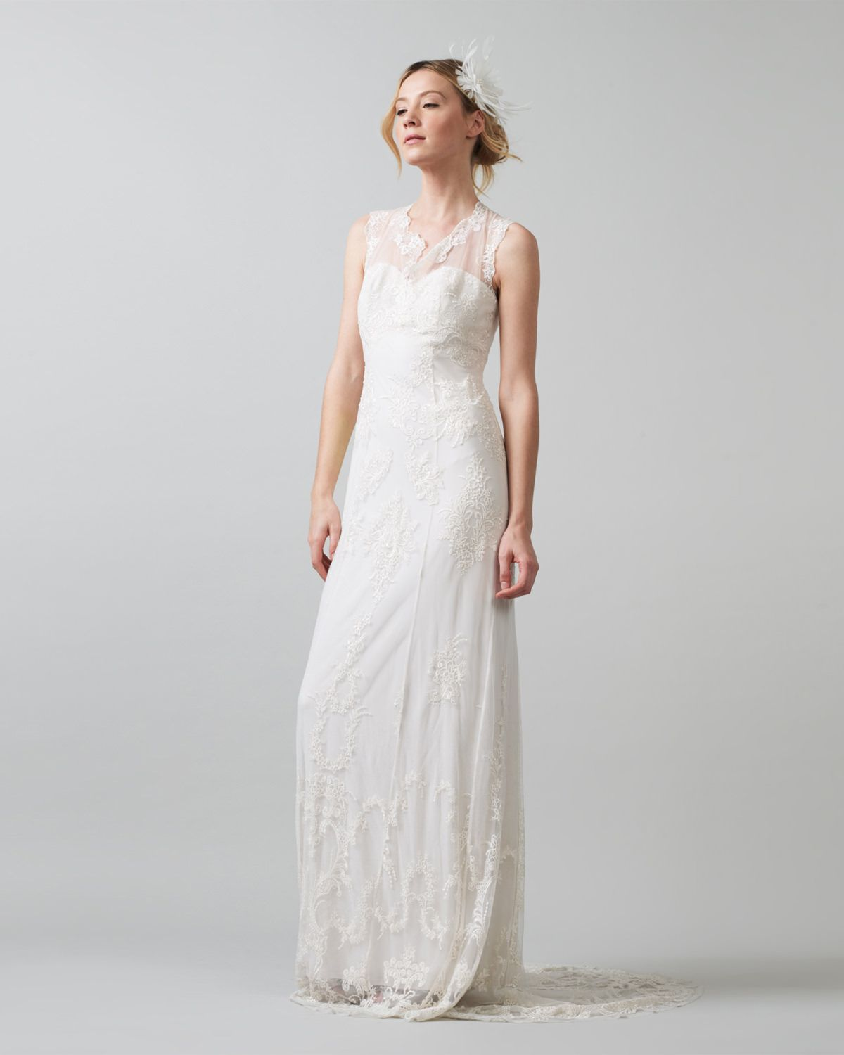 395 Size 20 Phase Eight Oriana Embroidered Wedding Dress Cream