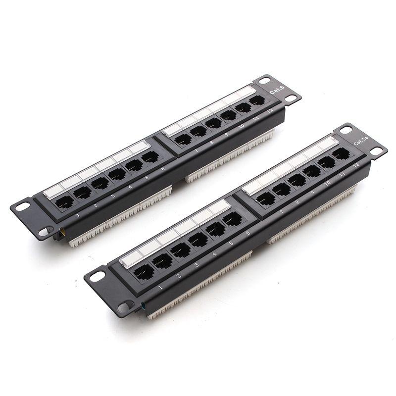 Cat6/Cat5e 12 Port RJ45 Patch Panel UTP Ethernet Lan-netzwerkadapter ...